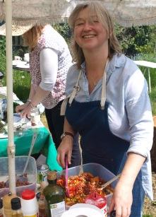 Judith creates a delicious salad