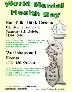 World Mental Health Day Bath NE Somerset 2016 Info